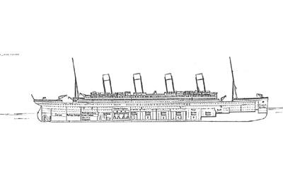 Titanic descent 12am