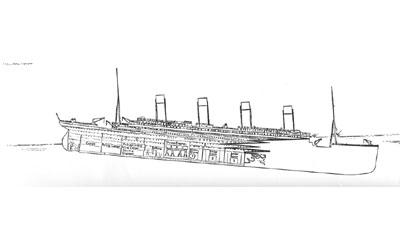 Titanic descent 2:10am