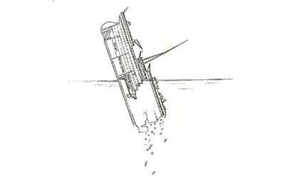 Titanic descent 2:18am - 2:19am