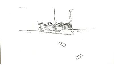 Titanic descent 2:18am