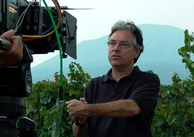 Pellegrino being interviewed