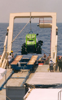 Launch of Deep Rover 1