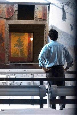 Pellegrino at filming of American Vesuvius